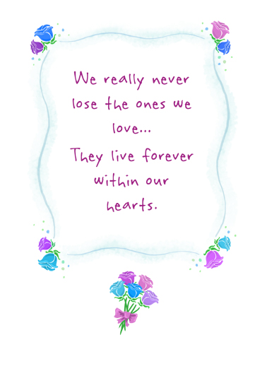 Never Really Lose Sympathy Card Cover