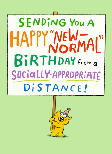New Normal Sign One from the Heart Card Cover