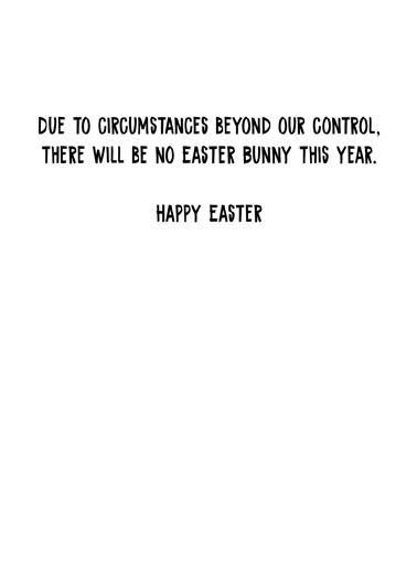 No Easter Bunny Easter Card Inside