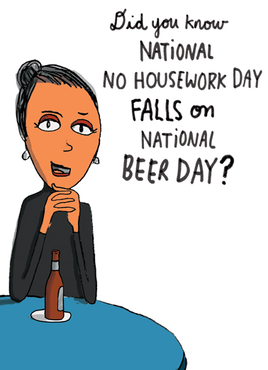 No Housework Day  Card Cover