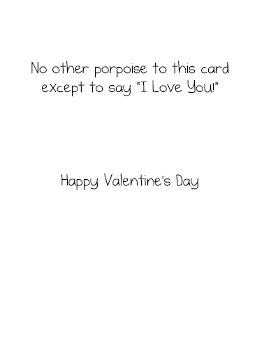 No Other Porpoise  Card Inside