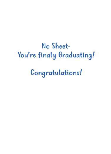 No Sheet Grad Graduation Ecard Inside
