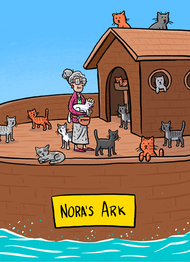 Noras Ark Birthday Card Cover