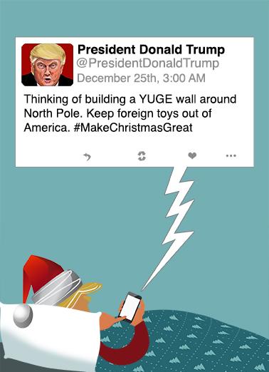 North Pole Tweet Funny Political Ecard Cover