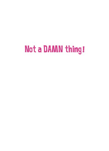 Not A Damn Thing Mother's Day Ecard Inside