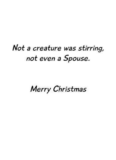 Not Even a Spouse Christmas Card Inside