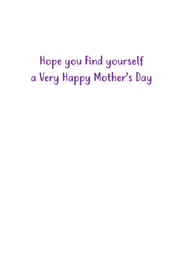 Nothing To Eat Mum Mother's Day Ecard Inside