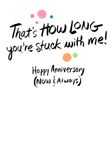 Now and Always Anniversary One from the Heart Card Inside