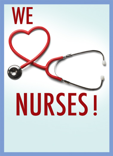 Nurse Get Well Card Cover