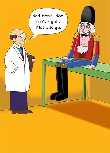 Nut Allergy Cartoons Ecard Cover