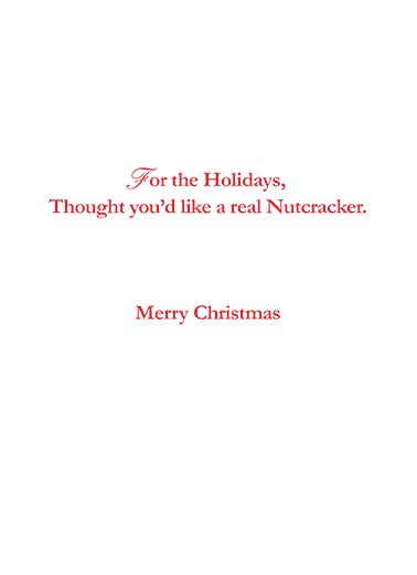 Nutcracker Christmas Card Inside