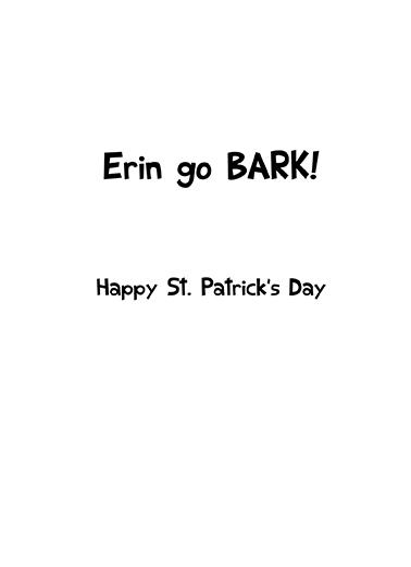 O'Bark St. Patrick's Day Ecard Inside
