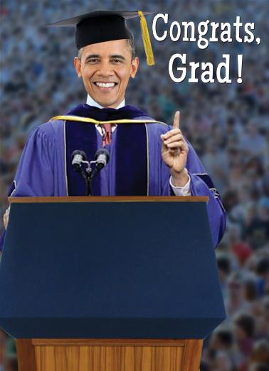 Obama Grad Graduation Card Cover