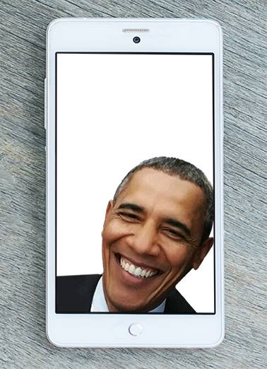 Obama Selfie Birthday Card Cover