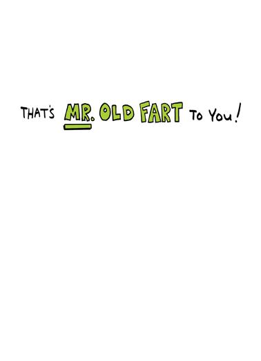 Old Fart 60  Card Inside