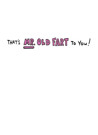 Old Fart 70 Birthday Card Inside