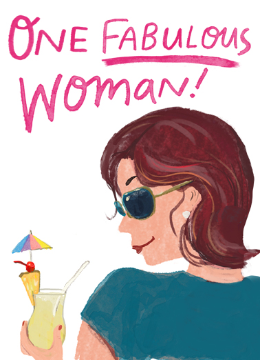 One Fabulous Woman Birthday Card Cover