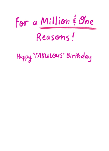 One Fabulous Woman Birthday Card Inside
