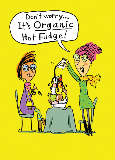 Organic Fudge Food Card Cover