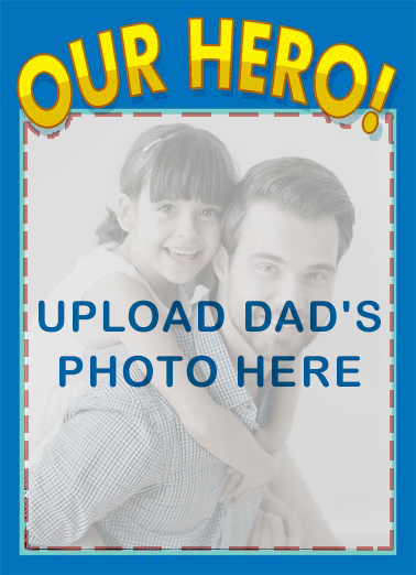 Our Hero FD Father's Day Card Cover