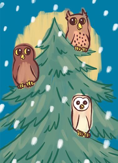 Owlidays Christmas Ecard Cover