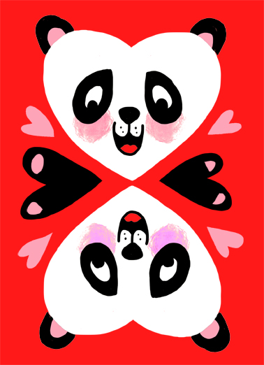 Pandamonium Val Valentine's Day Card Cover