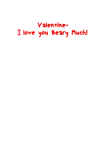 Pandamonium Val Valentine's Day Card Inside