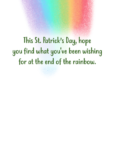 Pats Vaccine St. Patrick's Day Card Inside