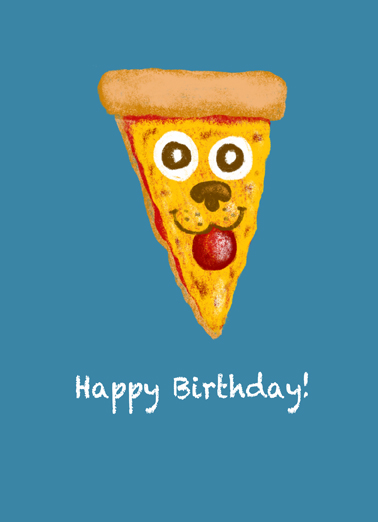 Pawpperoni Pizza Birthday Card Cover