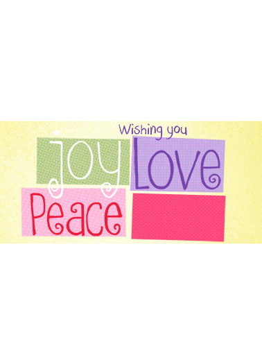Peace Joy Love (Easter) Easter Card Cover