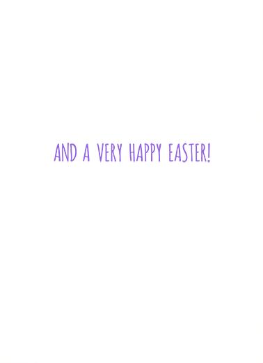Peace Joy Love (Easter) Easter Card Inside