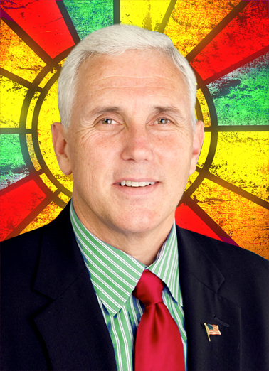 Pence on Earth Christmas Card Cover