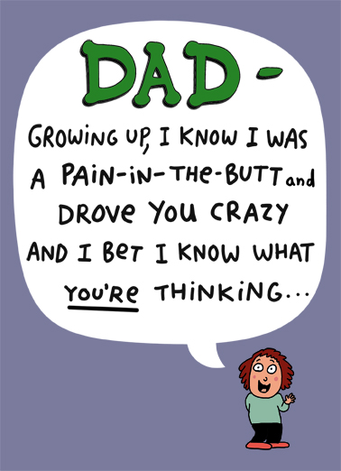 Perfect Child Father's Day Card Cover