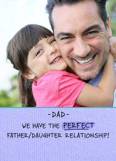 Perfect Father Daughter FD Father's Day Card Cover