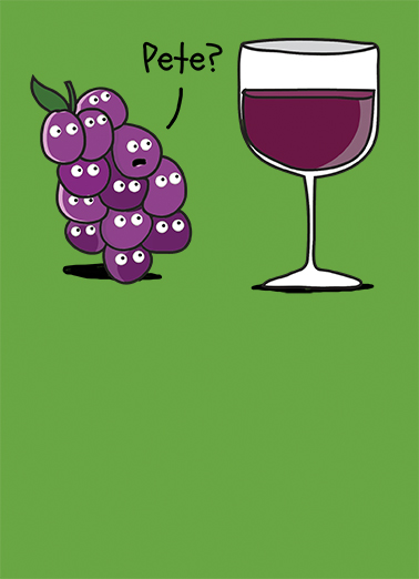 Pete the Grape Drinking Ecard Cover