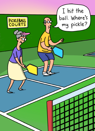Pickle Ball Birthday Card Cover