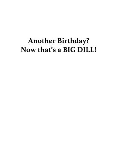 Pickle Ball Birthday Card Inside