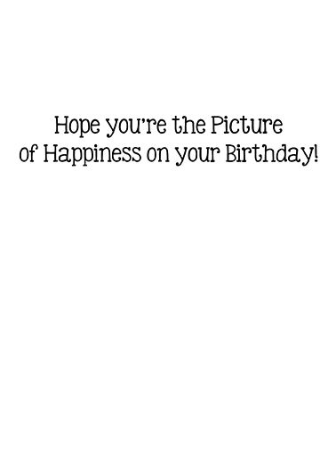 Picture of Happiness Birthday Card Inside