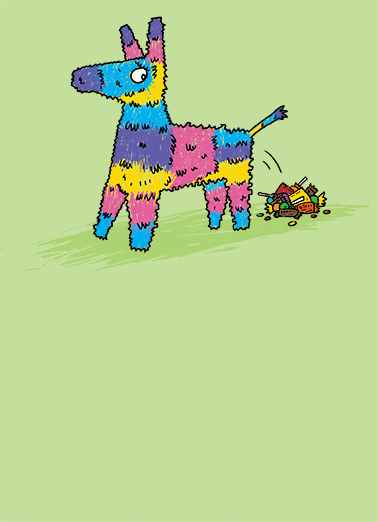 Pinata Birthday Card Cover