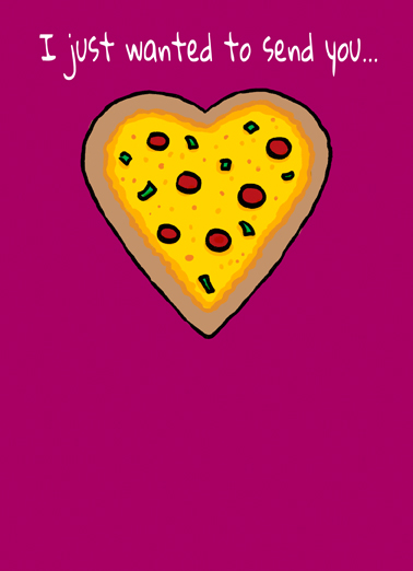 Pizza My Heart (Love) Love Card Cover