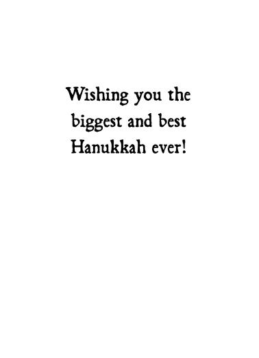 Plenty of Latkes Hanukkah Card Inside