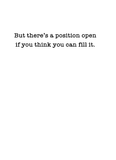Position Open Valentine's Day Card Inside