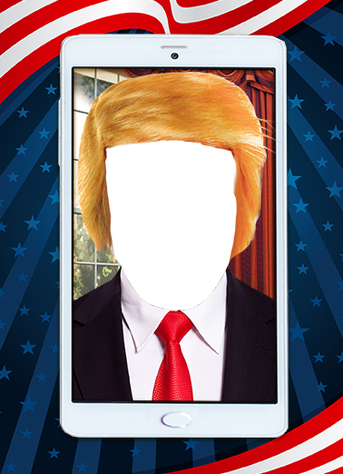 President Day President Donald Trump Card Cover