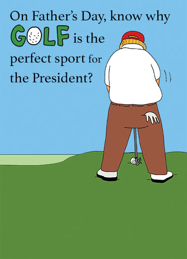 President Golf FD Father's Day Card Cover