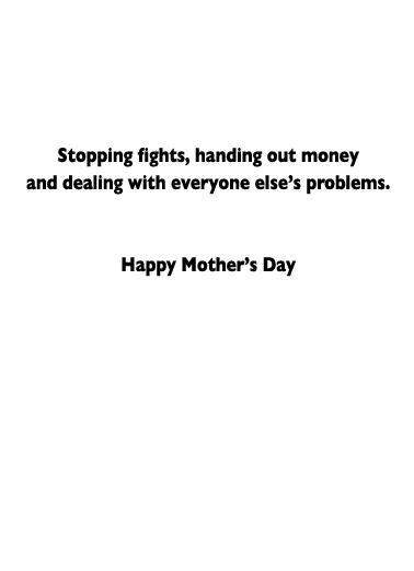 President Mom  Card Inside