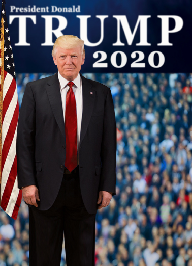 President Trump 2020 Birthday Card Cover