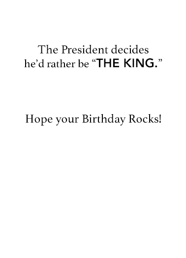 President Trump King Conservative Ecard Inside