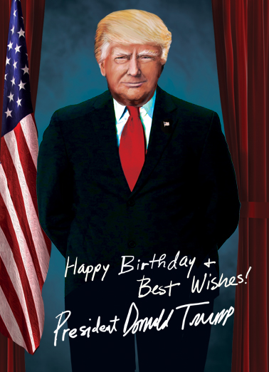 President Trump Portrait  Ecard Cover