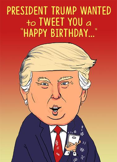 President Trump Tweet Ecard Cover