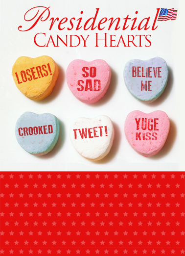 Presidential Candy Hearts Funny Political Ecard Cover